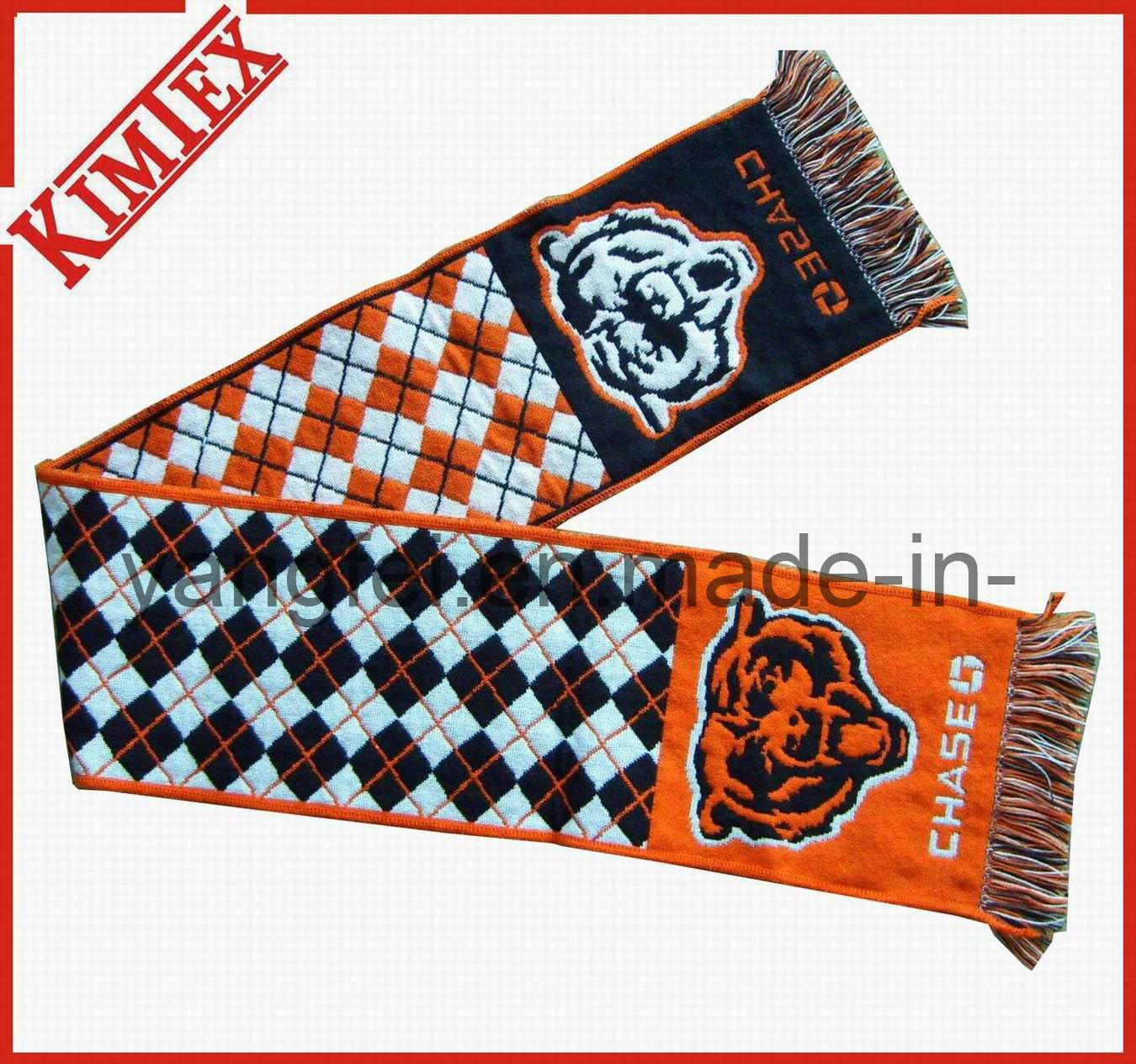 Promotional 100% acrylic Single Layer Knitted Woven Jacquard Scarf