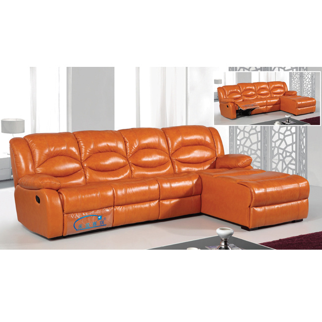 China L Shape Sofa with Recliners Lounge Recliner Sofa 6008L - China ...