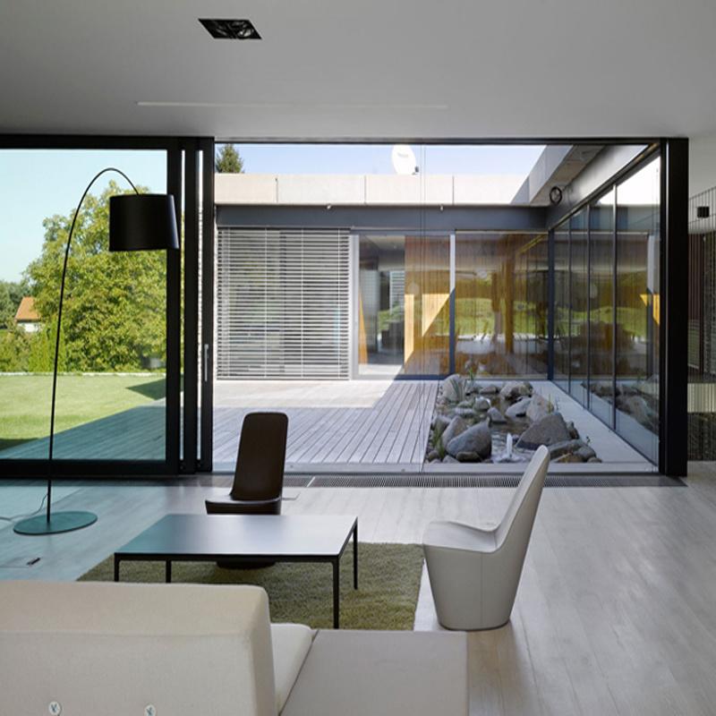 China Feelingtop Interior Or Exterior Aluminum Tempered Glass