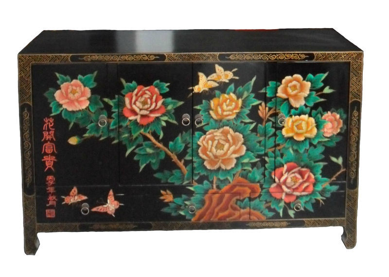 Antique Chinese Furniture Hand Painted Buffet Lwc182