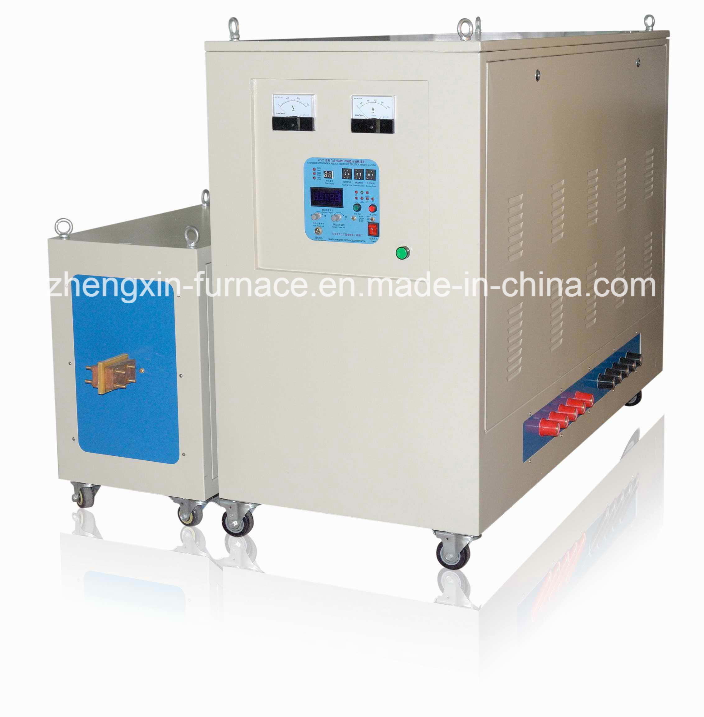 China Medium Frequency Igbt Induction Heating Machine 250kw Iii With Furnace Heater
