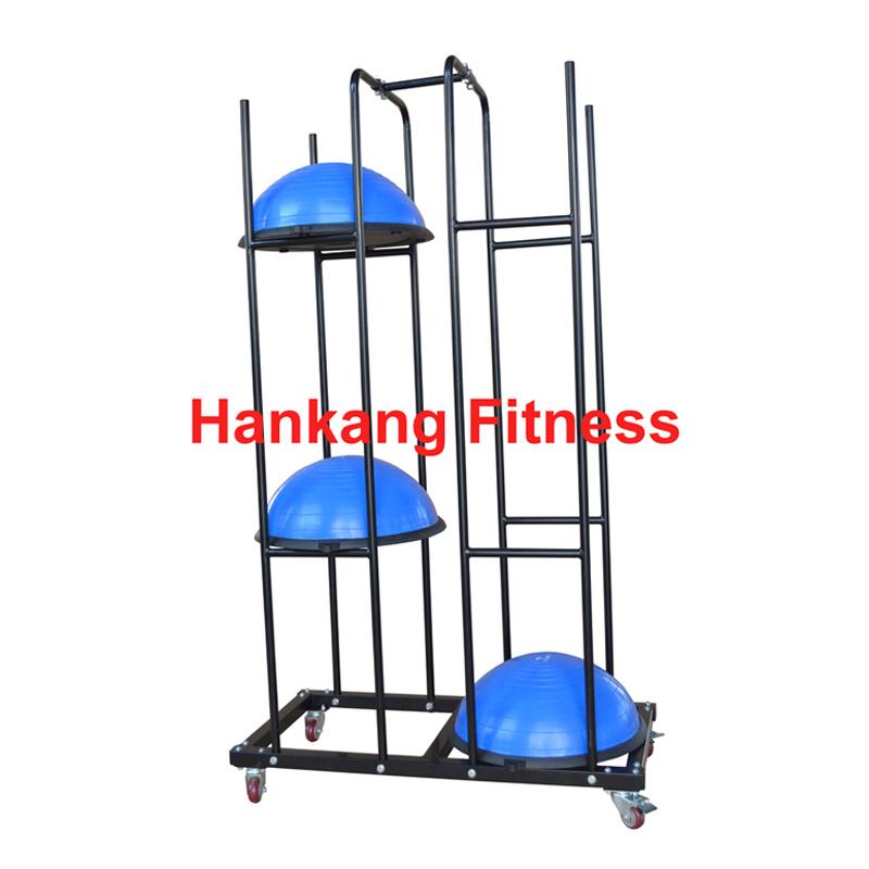 China Fitness Gym Equipment Balance Ball Bosu Storage Rack Hr