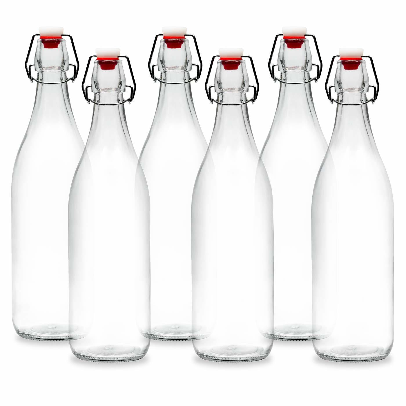 Transparent Glass Juice Bottle Milk Bottle with Sealed Cap pictures & photos