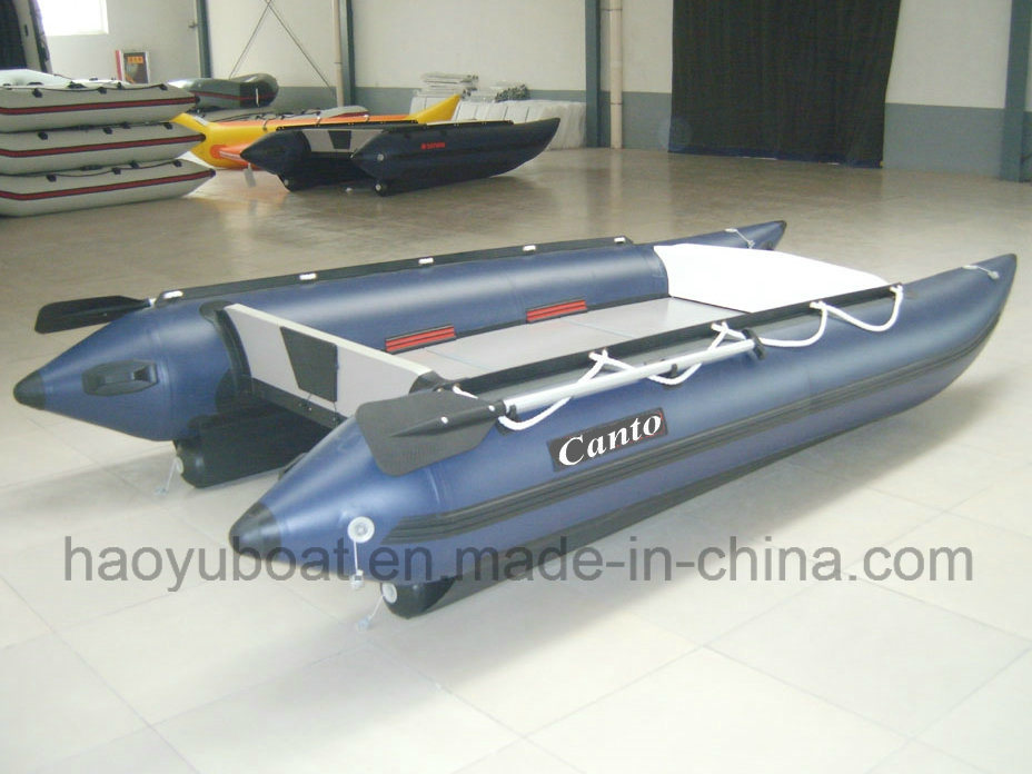 High Speed Boat Cat Boat Hy-G430 with PVC Tube and Aluminum Floor
