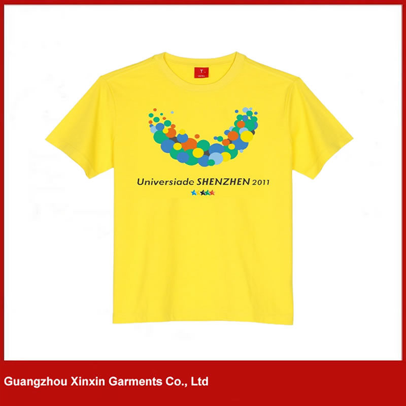 OEM Factory Dark Blue Silk Screen Printing T Shirt Maker (R28) pictures & photos