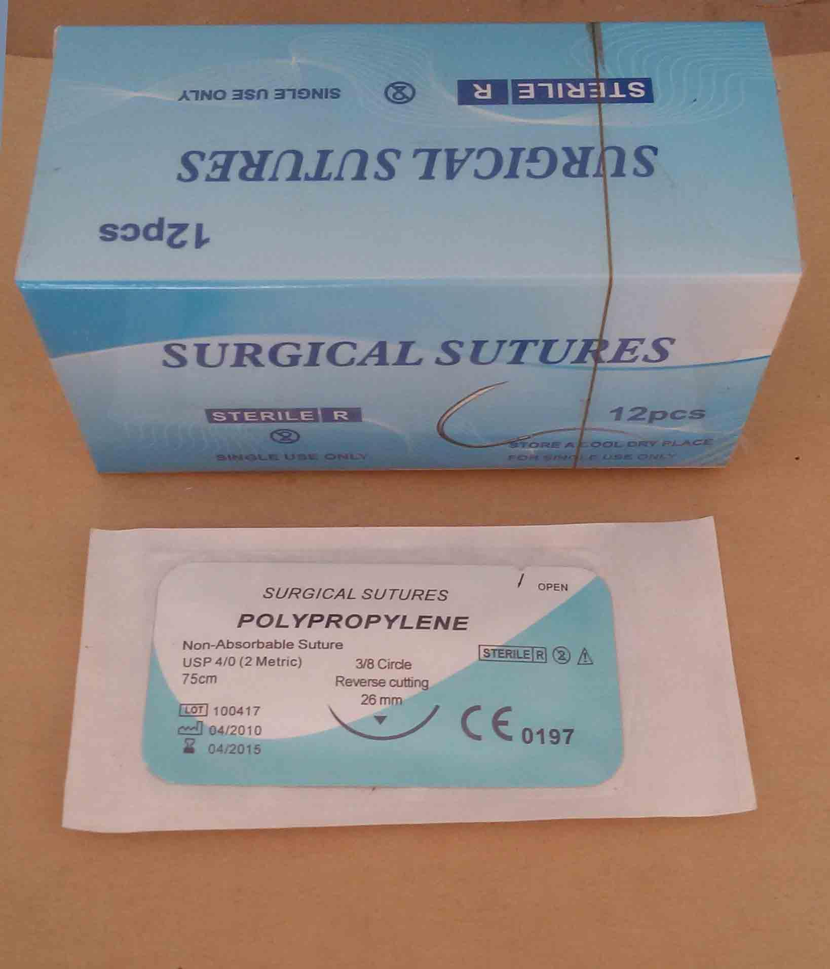 Surgical Suture Polypropylene Mono USP2#-5/0