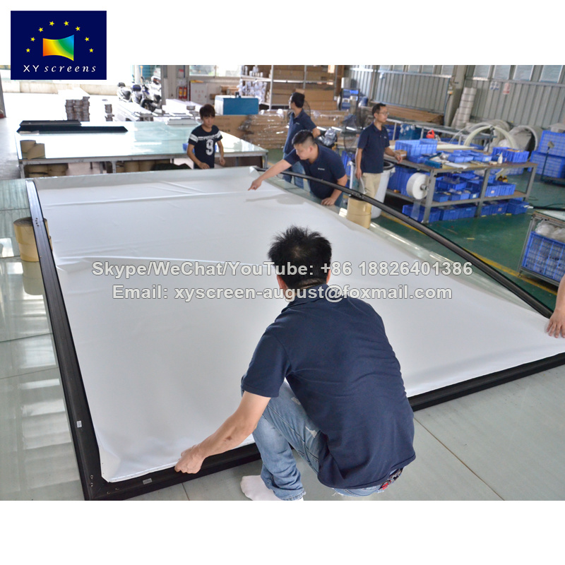 China Xy Screens 150 Inch Curved Fixed Frame Projection Screen Best ...