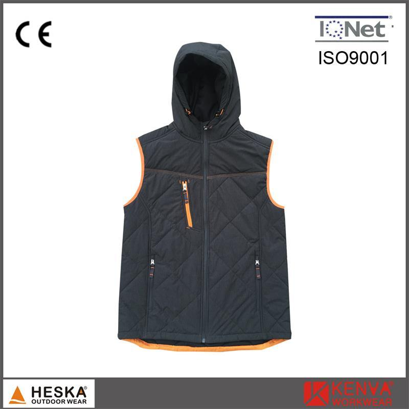 41ac53aa1 China Polyester Padded Branded Vest Ripstop Winter Mens Hooded ...