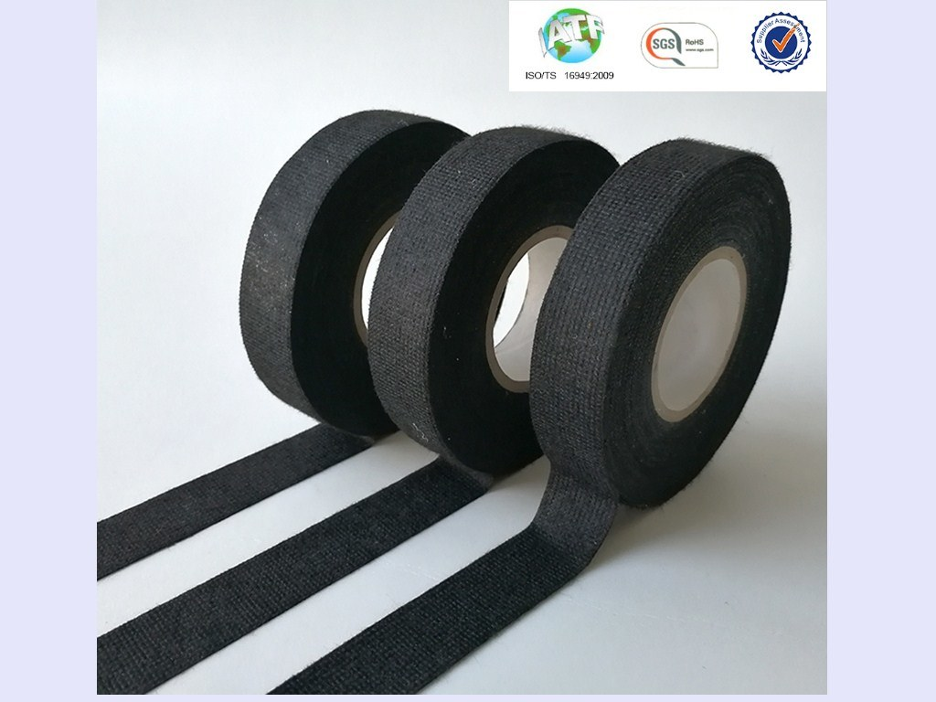 China Sample Good Sticky Black Wire Harness Fleece Tape For A Jumbo Wiring Resisting Abrasions Adhesive