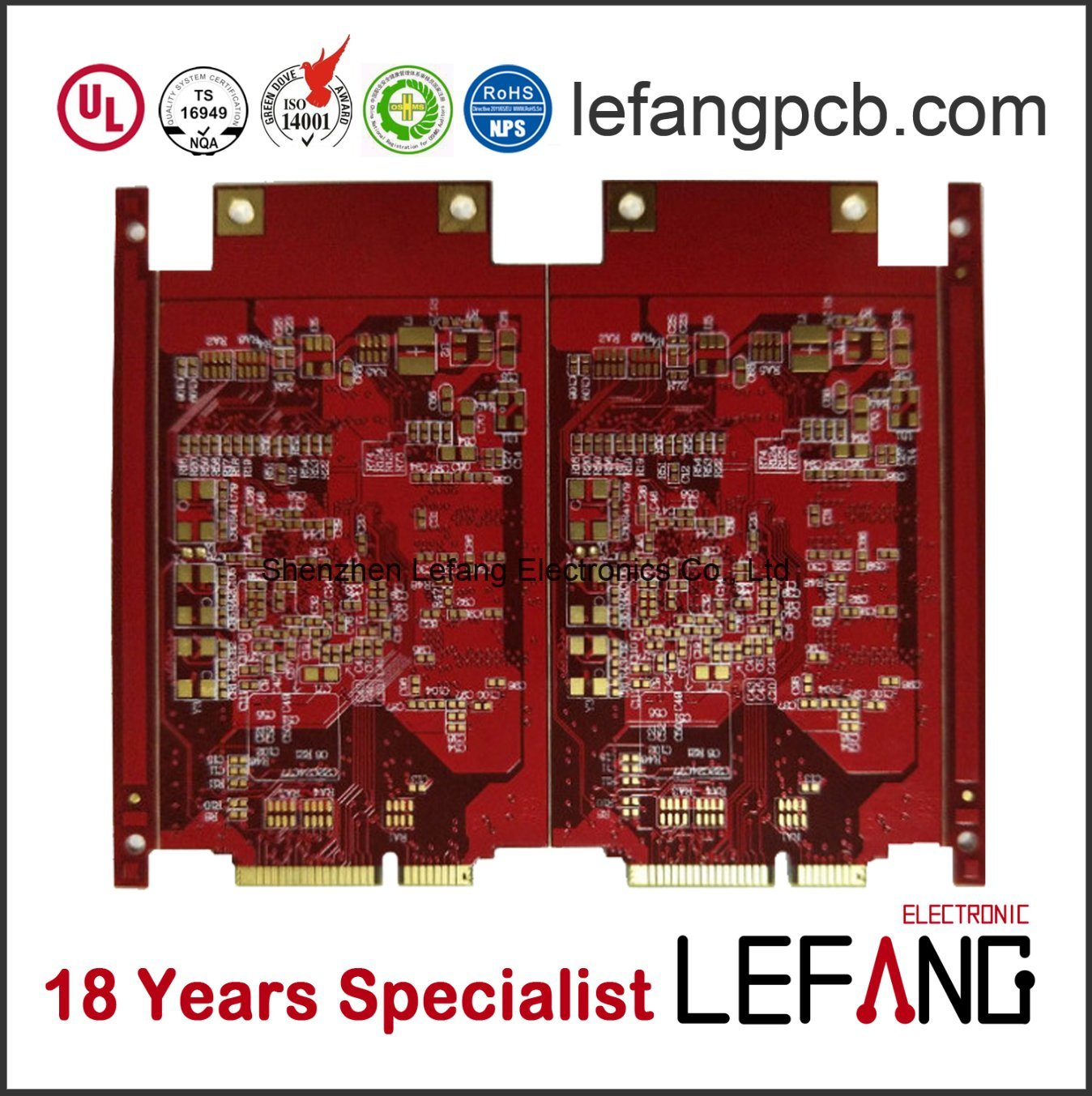 China Red Solder Circuit Board Pcb For Medical Control System Boards Main Electronics
