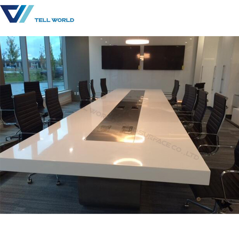 China Corian Conference Table Furniture Luxury Meeting Room Table - Corian conference table