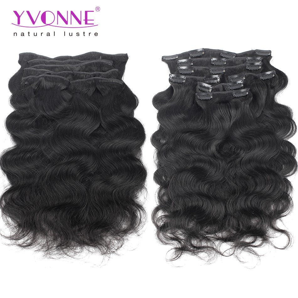 China Brazilian Hair Extensions Clip In Body Wave For Black Women