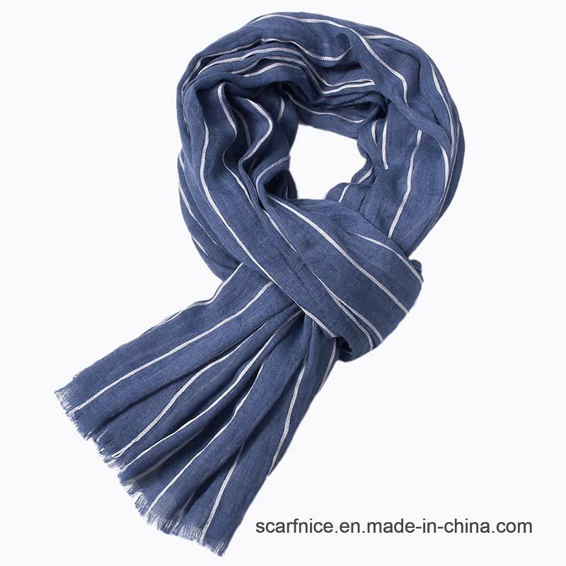 a05e76c39 China Striped Wrinkled Cotton Viscose Blend Yarn-Dyed Scarves Male - China  Men′s Scarf, Fashion Stripe Design Men′s Scarf