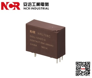 China 1 Phase 40A PCB Latching Relay NRL708C-12VDC - China 40A Relay