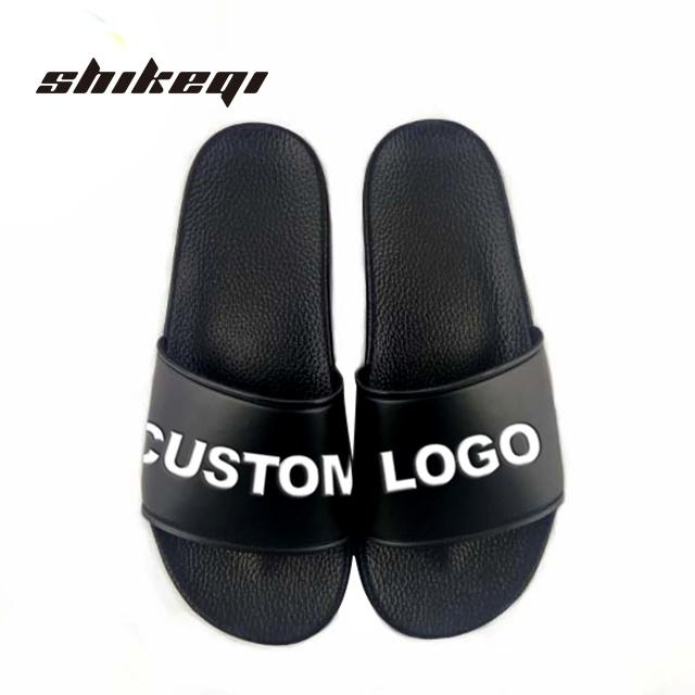 e63915efc58cd China Shikeqi Men Plain Slide Sandal Custom Logo