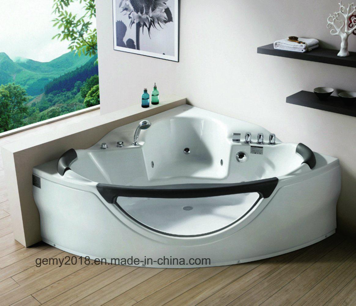 China Front Glass Bathtub with Seat - China Massage Bathtub ...