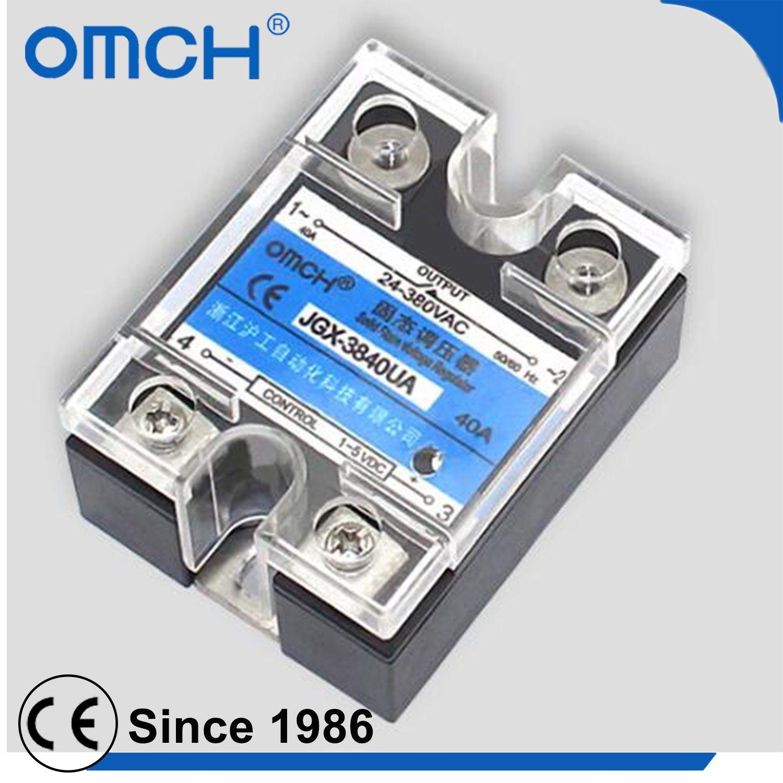 China Single Phase Adjustable Voltage Regulator Ssr 12v Solid State Relay