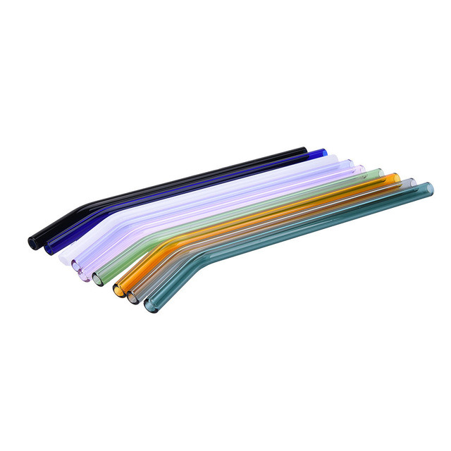 [Hot Item] Curved Glass Pipet Environmental Glass Straws Pipette Drinking  Straws