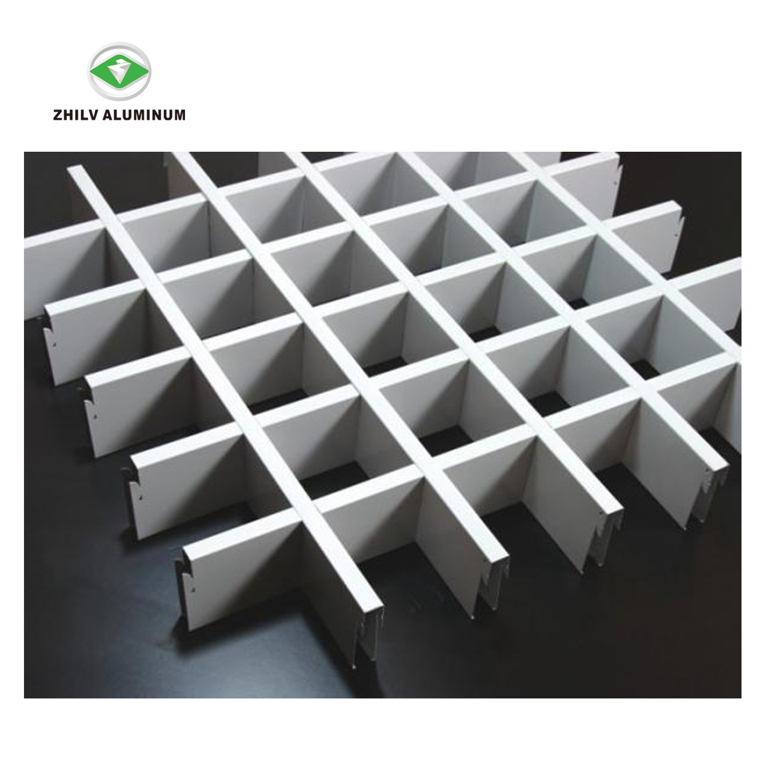 China Aluminum Open Cell Grid Ceiling Tiles For Supermarket China