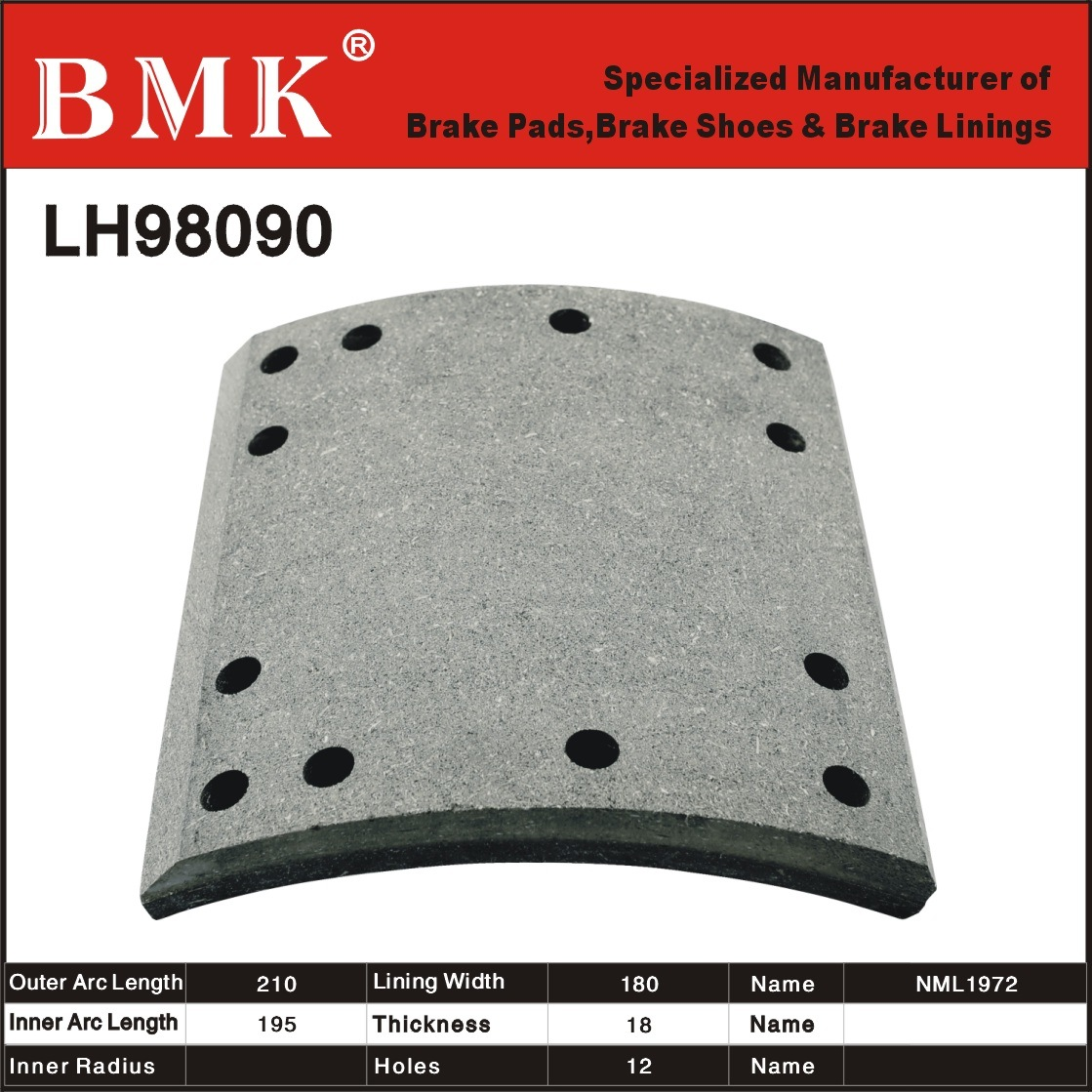 High Quality Brake Linings (LH98090)
