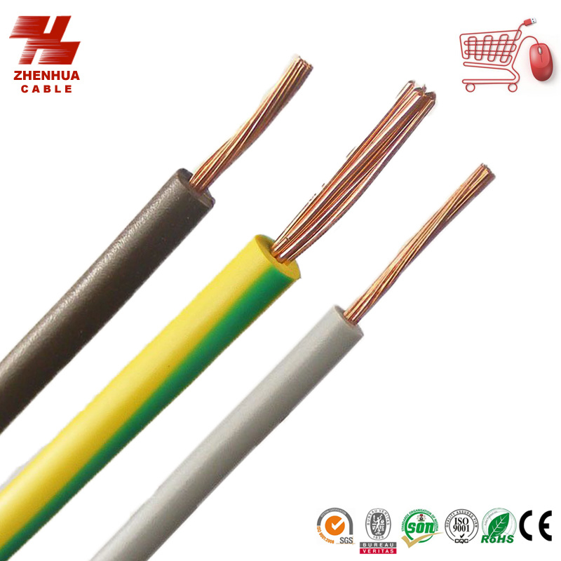China Electrical Single Core Wire with Solid Copper Conductor PVC ...