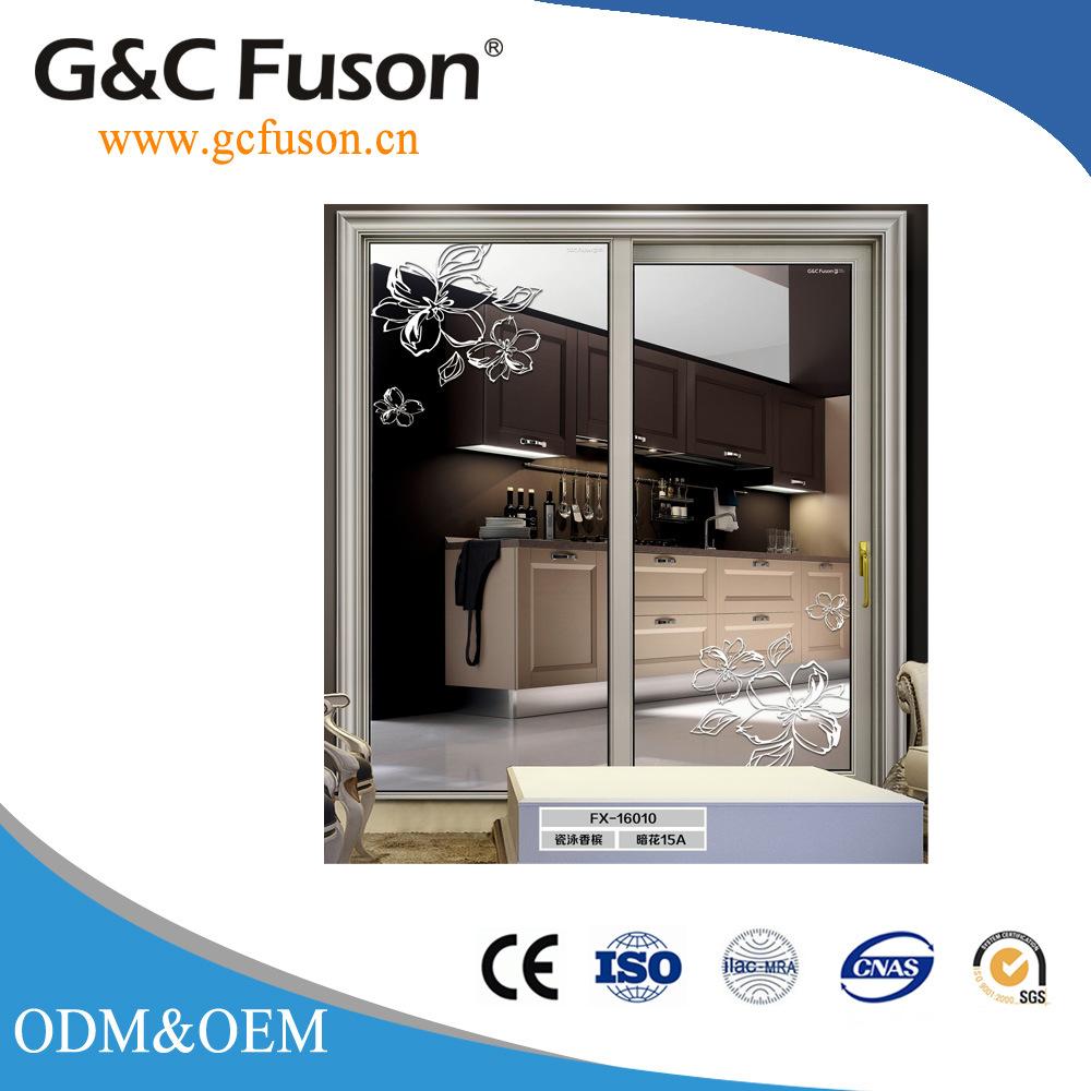 China Big Glass Aluminum Double Glazed Sliding Interior Door Photos