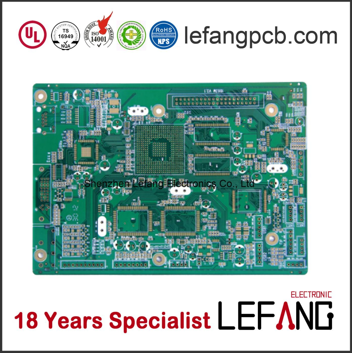 China Immersion Gold Printed Circuit Board Pcb For Tablet Display Card
