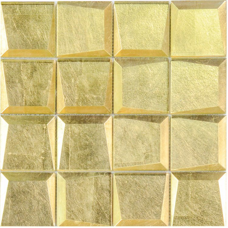 China Foshan Factory Price of Hot Sale Cheap Gold Glass Mosaic Tile ...