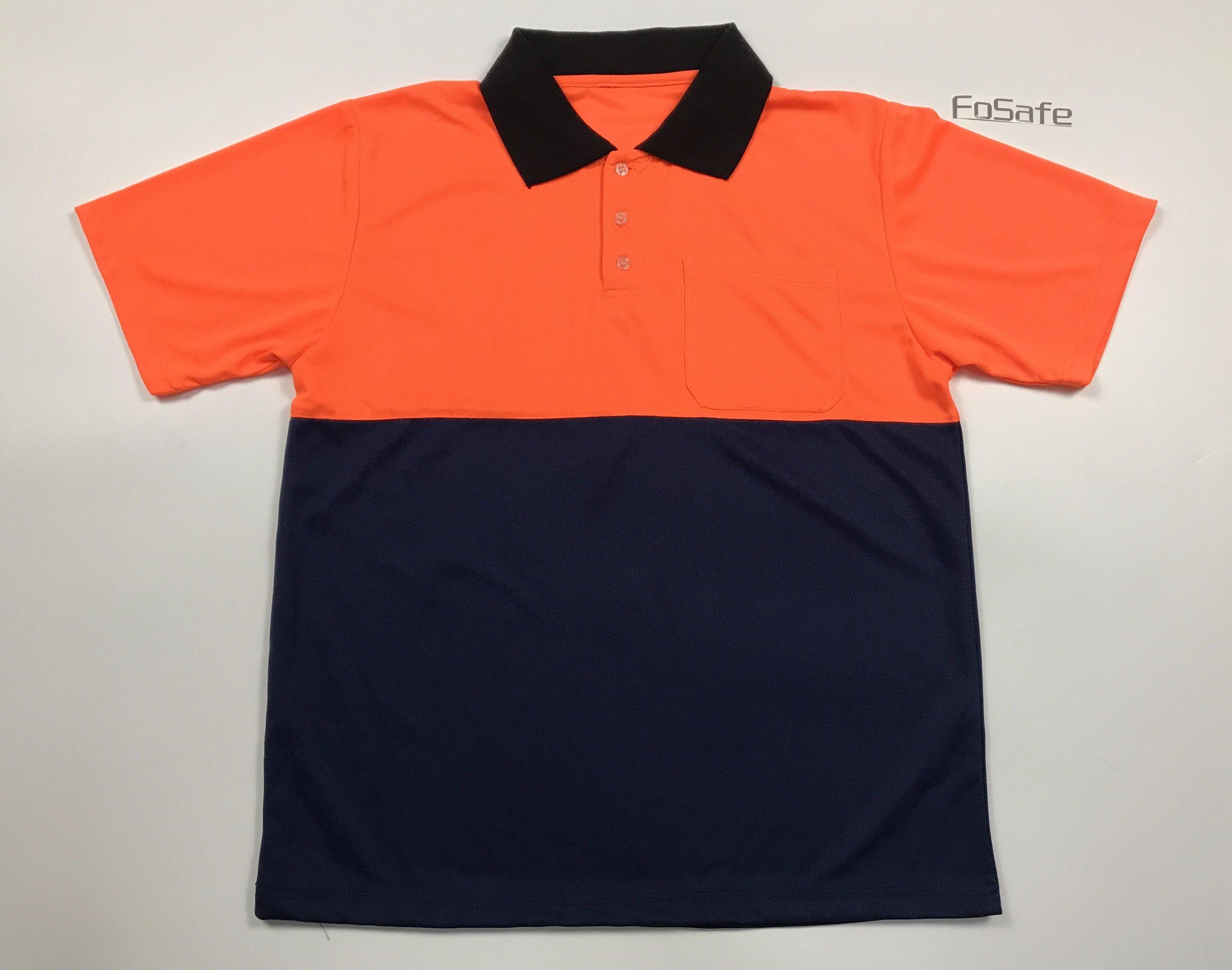 China Short Sleeve Safety Polo Shirt China Bird Eye Fabric Uniform