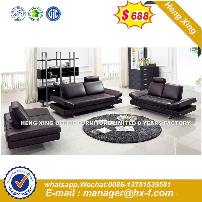 Brown Color Leather Combination 1+1+3 Sets Office Sofa (UL-NCS414) pictures & photos