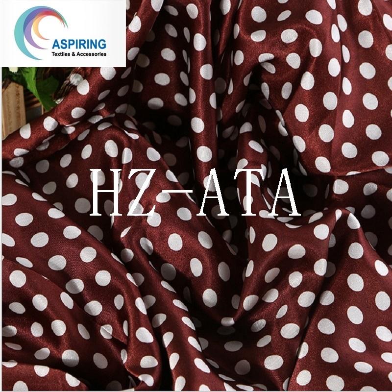 Hot Item Silk Fabric 100 Silk Print Satin Silk Satin Fabric