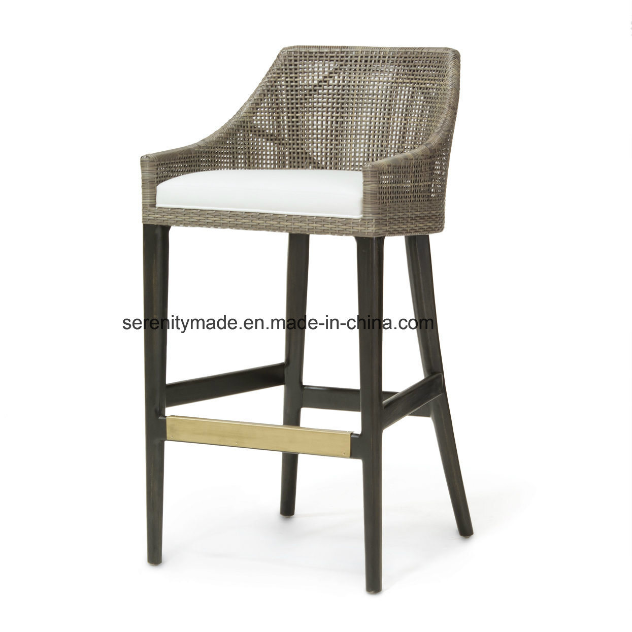 Fabulous Hot Item Outdoor Restaurant Furniture Rattan Aluminum Garden Bar Stool Chair Andrewgaddart Wooden Chair Designs For Living Room Andrewgaddartcom