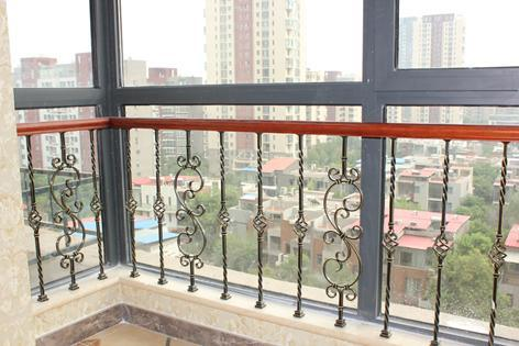 China Balcony Grill Design Wrought Iron Railing For Veranda For Sale