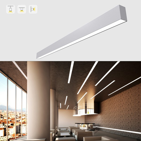 China 50w Led Light Strip Linear Lamp Pendant Chandelier Ceiling Lighting Fixture For Living Room Bedroom Dining Trunking