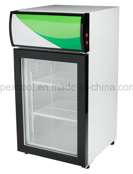 China Counter Top Compact Hotel Mini Freezer Fridge With Glass Door