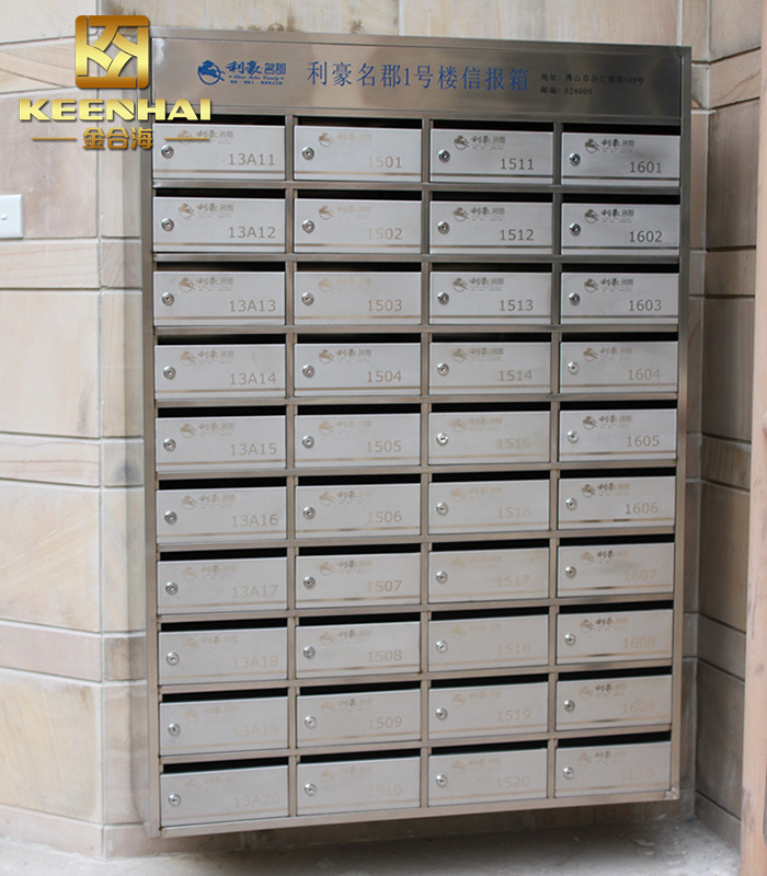 China Wall Mount Stainless Steel Apartment Mailbox