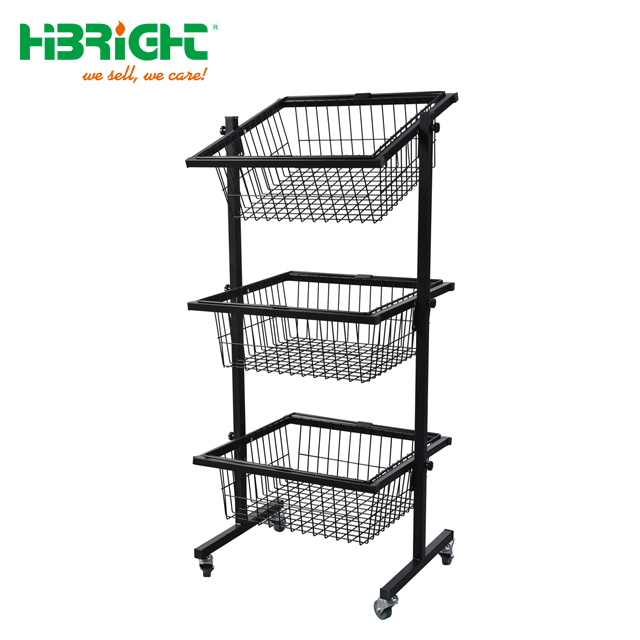 Wire Display Stand | China 3 Tier Wire Display Basket Display Stand Shelf China Wire