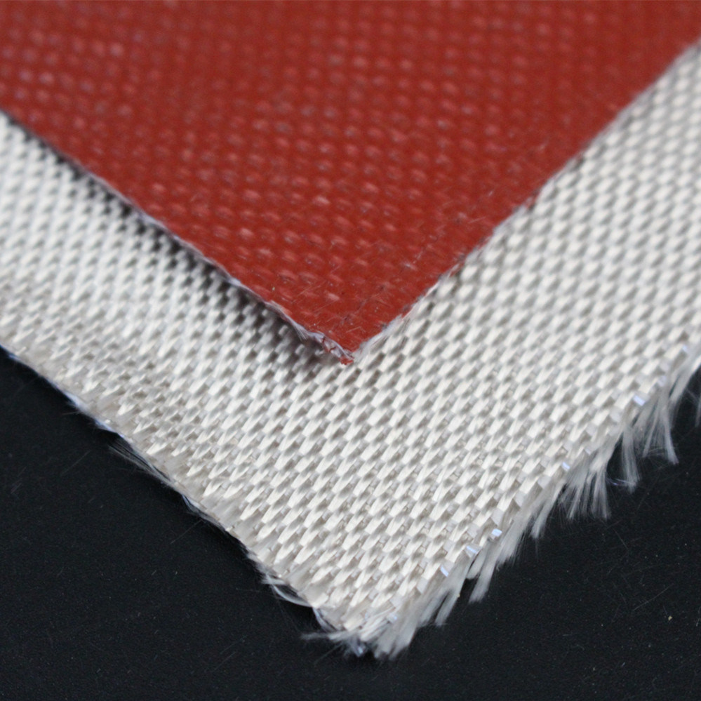 High Temperature Resistant Fireproof Silicone Coated Silica Fabric