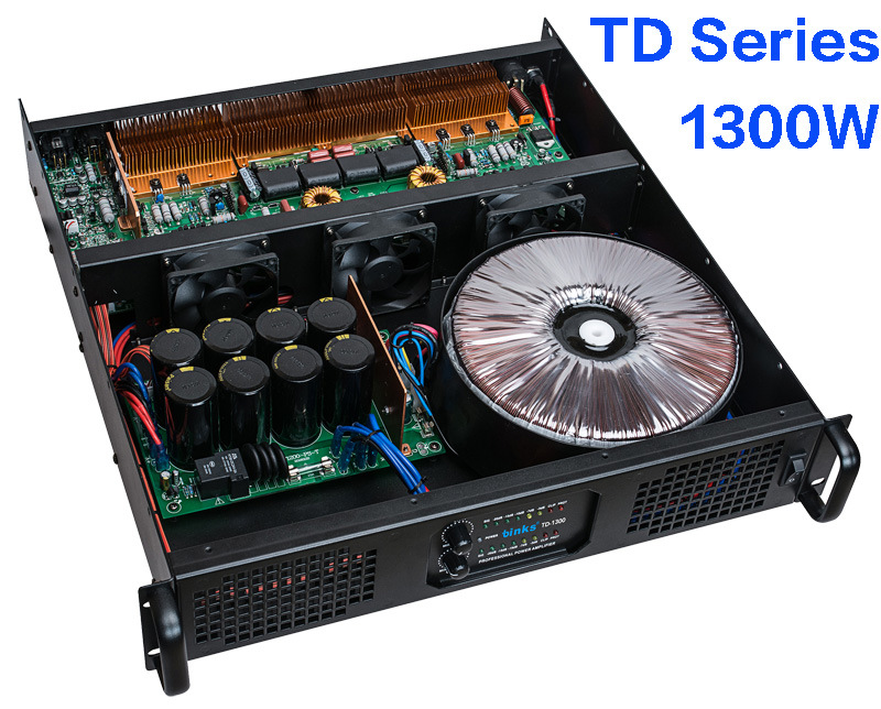 Td Series Professional Digital Power Amplifier with Transformer (TD-1300)