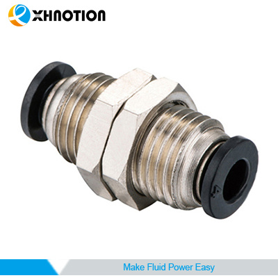"""Bulkhead Union Connector Air Push In Fitting Tube OD 3//8/"""" Quick Release 5 Pieces"""