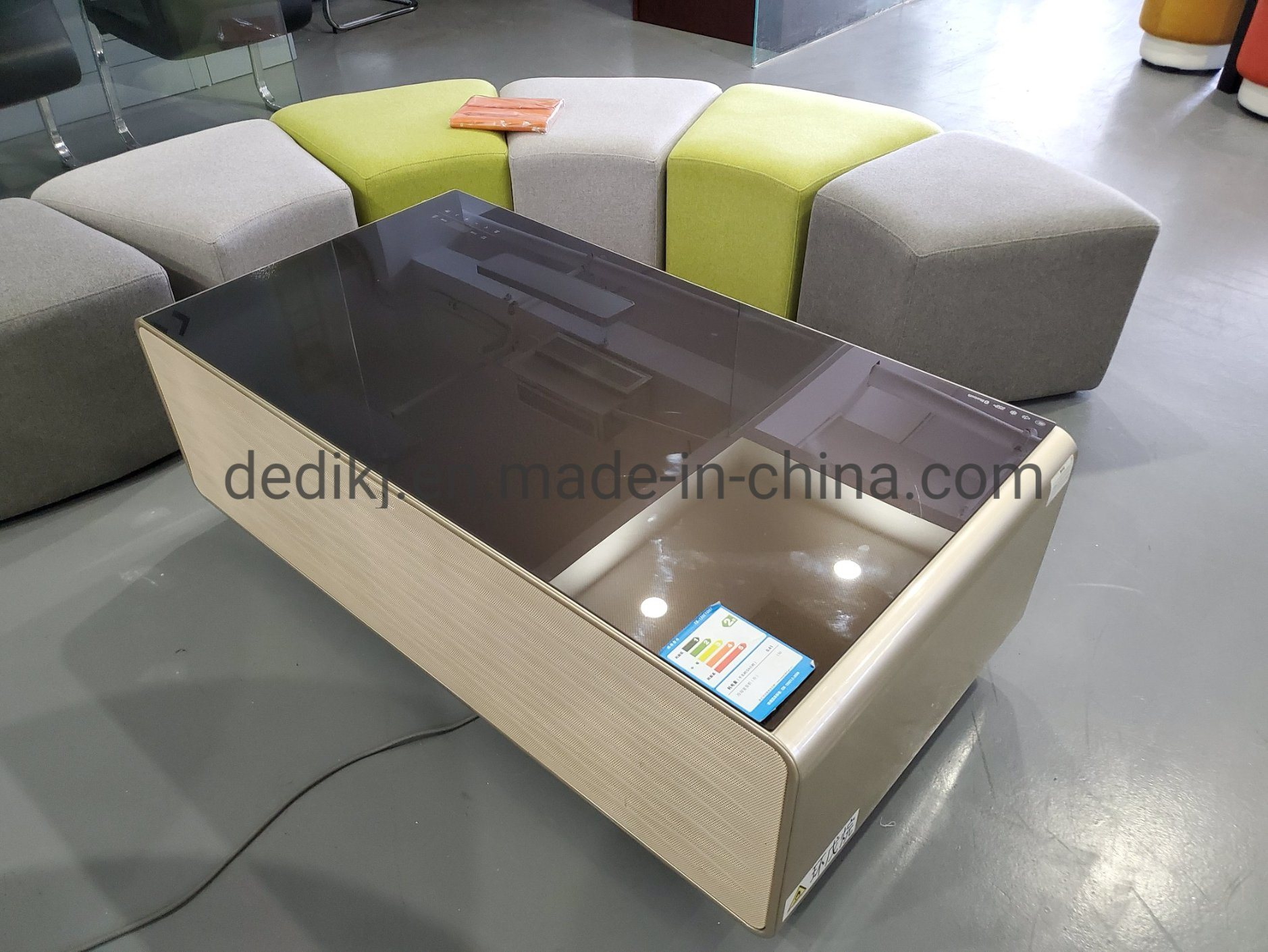 China Smart Fridge Wireless Charging Bluetooth With Smart Furniture Smart Side Table China Lcd Kiosk And Lcd Display Price