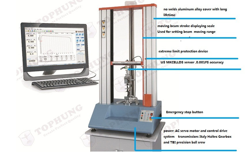 Double-Column Servo Control System Universal Tensile Testing Machine (TH-8201S)