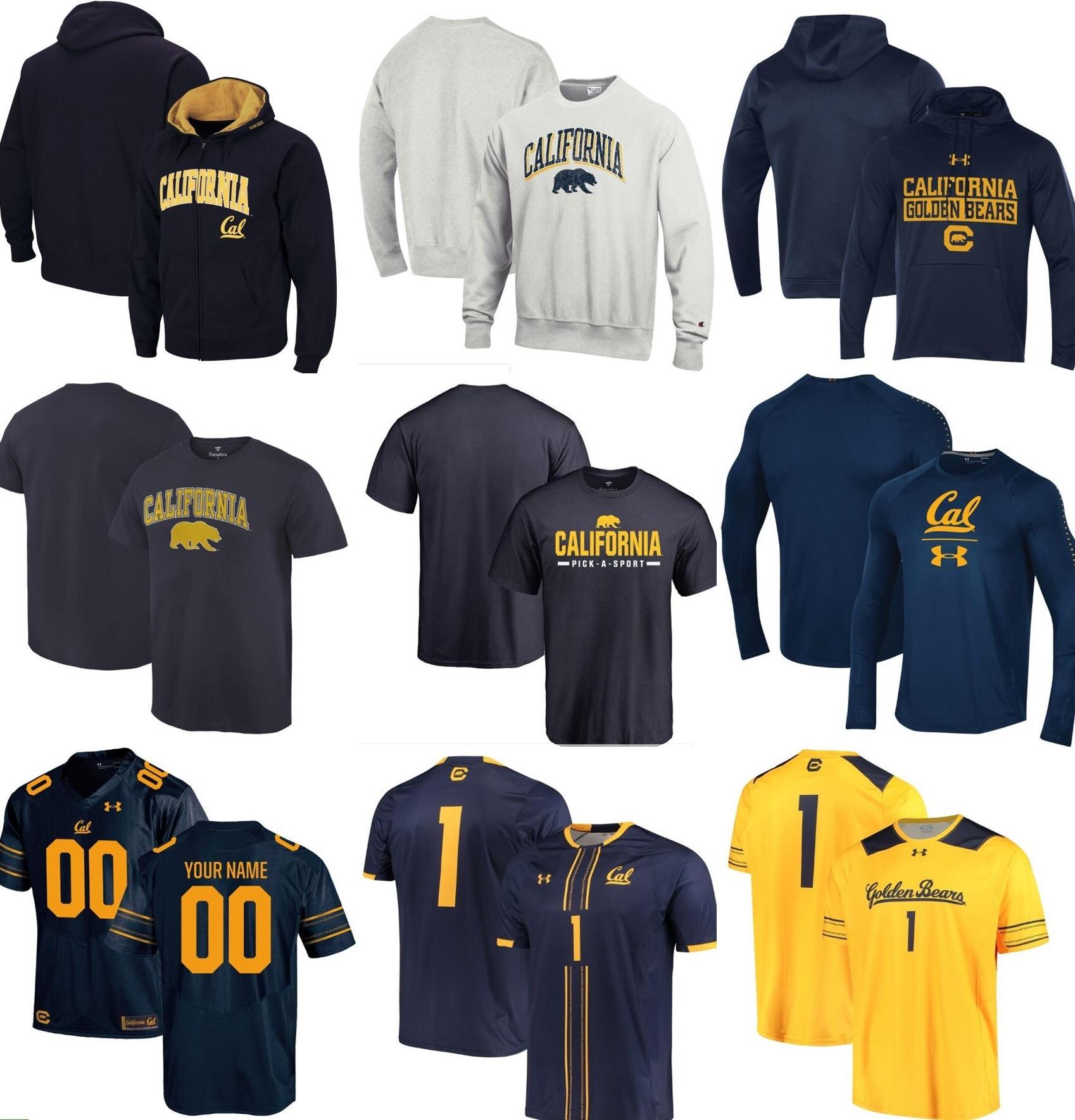 best website d28f4 1bec9 [Hot Item] Customize Cal Bears Ncaa Jersey &Pullover Hoodie & T-Shirt