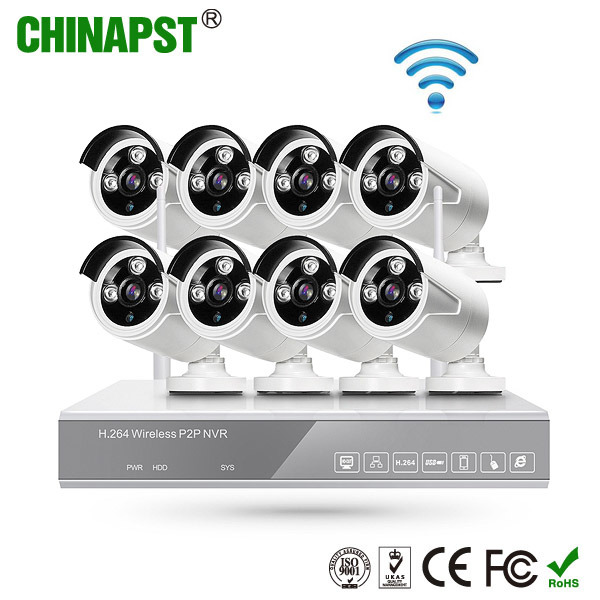 CCTV 960p HD Digital Wireless WiFi Home Surveillance IP Network Camera Kit (PST-WIPK08BL) pictures & photos