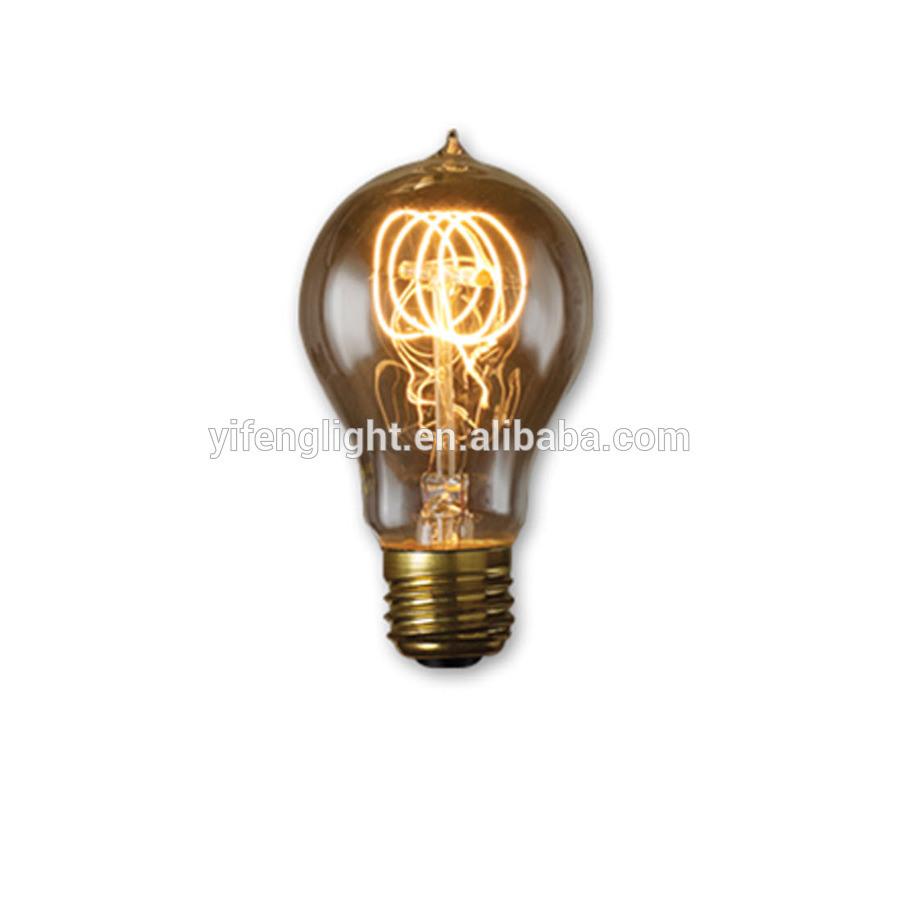 China 60 Watt Medium Base E 27 Amber Decorative Incandescent Light