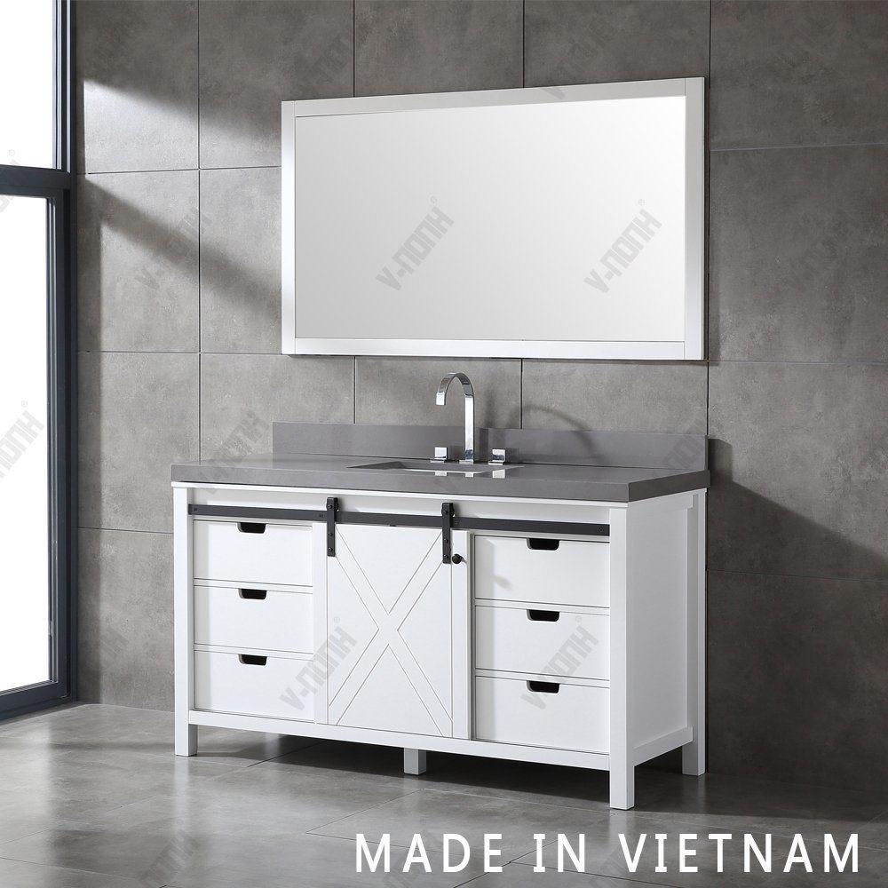 China Large Size Single Sink White, Large Bathroom Vanity