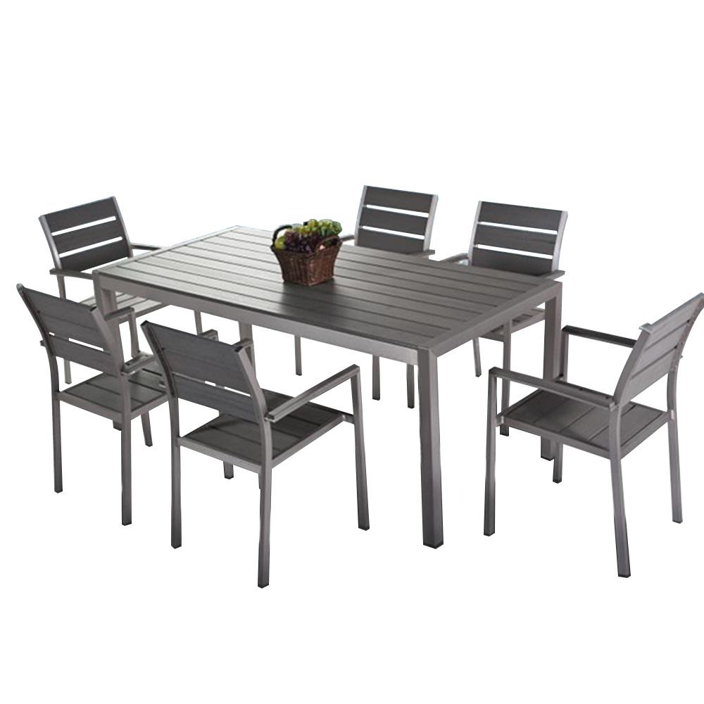 Pleasing Hot Item Aluminium Plastic Wood Garden Dining Table Sets Uwap Interior Chair Design Uwaporg