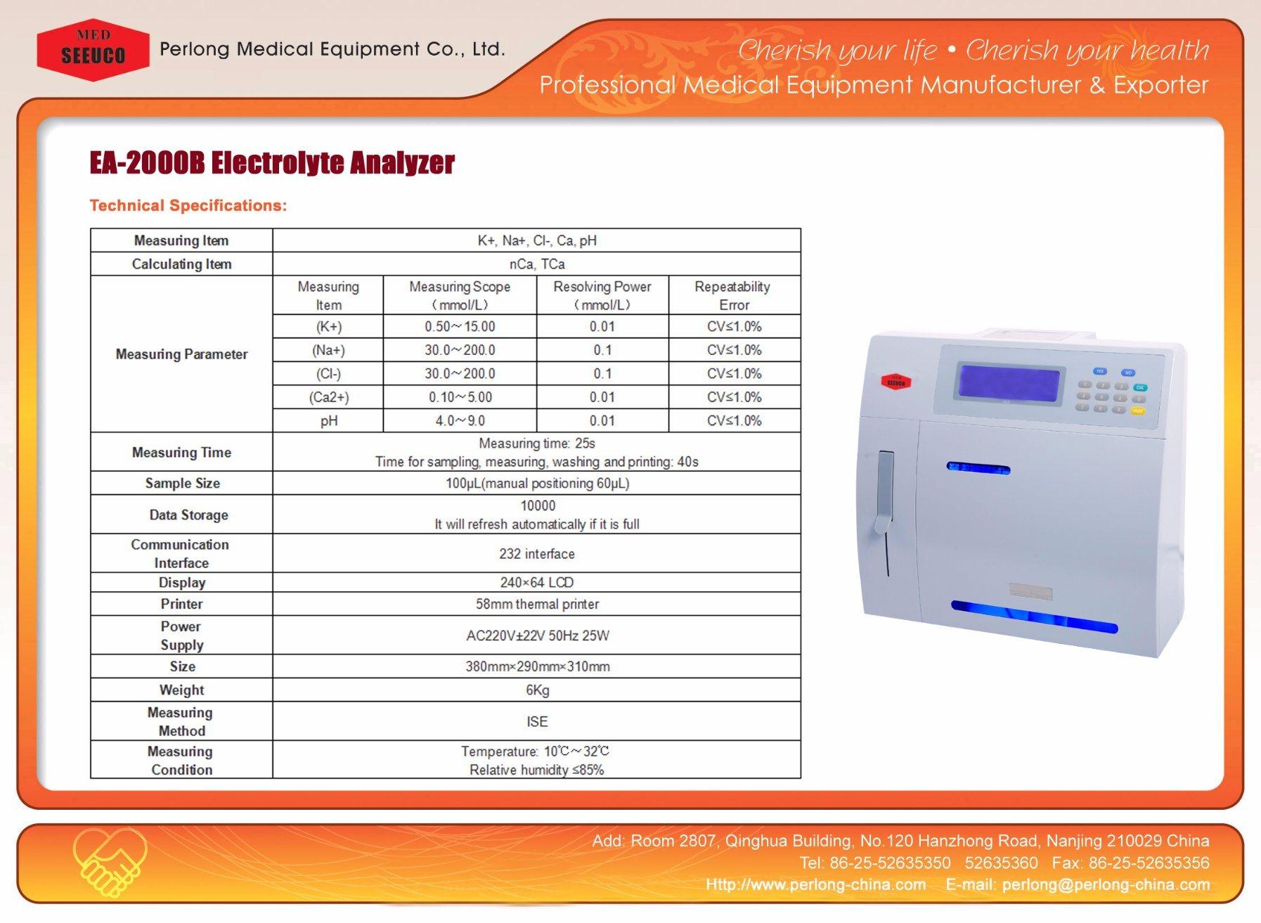 [Hot Item] Lab Clinical Equipment Electrolyte Analyzer 5parameter