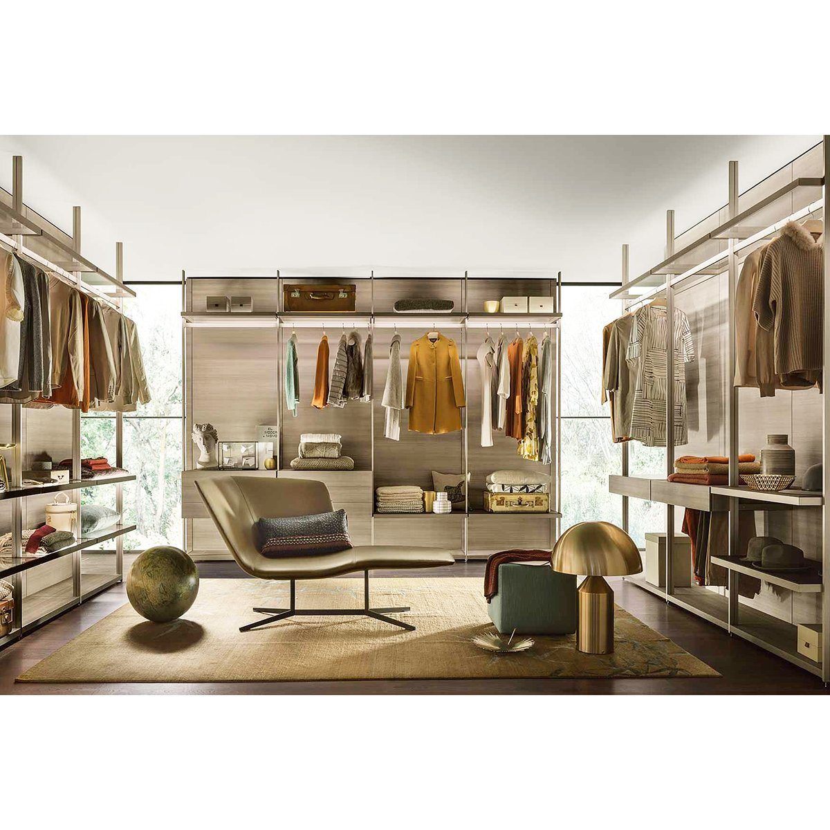 Hot Item China Manufacturer Custom Space Organizer Luxury Italian Walkin Closet