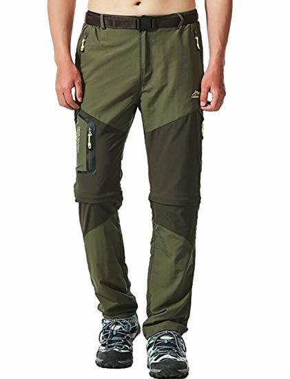 China Men S Waterproof Convertible Hiking Pants With Belt